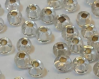 Silver Vintage Seed Beads Size 12