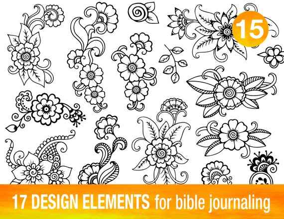 Greatest 17 PRINTABLE TEMPLATES for bible journaling verse art, illustrated  KS57