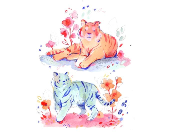 Two Tigers -- Art Print