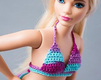 Barbie Fashionistas Curvy bikinis - Curvy Barbie doll clothes, fashion doll clothes