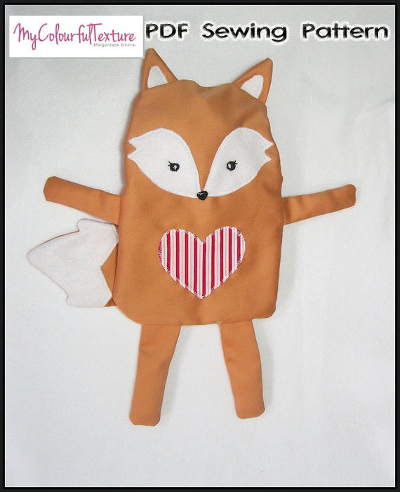 Sewing Pattern Fox Hot Water Bottle Cover PDF from ...