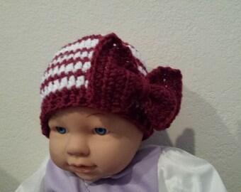 Baby Christmas crochet hat