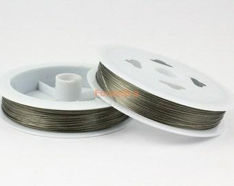 1 Roll Steel Wire Jewelry Making Wire Metal Wire 0.3mm / 75 Yards (WI01)