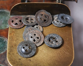 Set of 10 Antique original different buttons (n19)