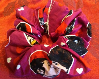Valentines Day Hearts Star Wars Princess Leia and Han Solo Hair Scrunchy Scrunchie Perfect for Low Ponytails! Free US Shipping!!