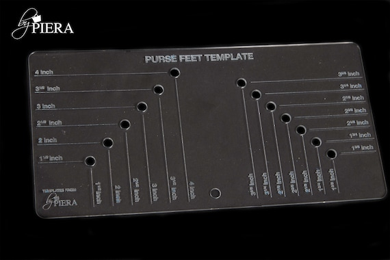 purse feet template, bag making tools, acrylic laser template, laser etched template