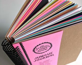 JUNQUE JOURNAL - For Art Journaling, Scrapbooking, Junk Planner, Creative Life Planning