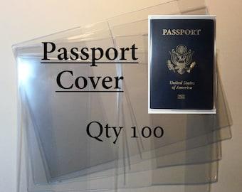 Clear Vinyl Passport Covers - 12 gauge - Qty 100