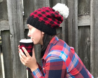 Red Buffalo Plaid Beanie
