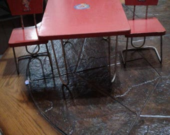 Vintage Doll table and chairs