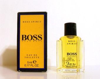 Vintage 1980s Boss by Hugo Boss 0.17 oz Eau de Toilette Mini Miniature COLOGNE