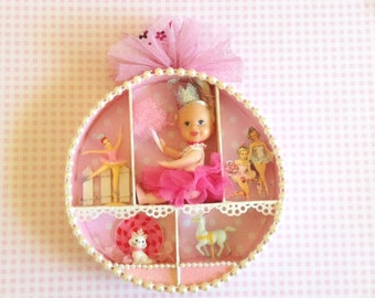 Little Pink Ballerina Shadowbox/Wall Decoration/Ballerina Diorama