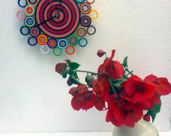Small wall clock, colorful clock, paper clock, wall clock, wall clock, home gift, Silent watch