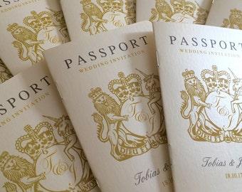 Passport Wedding Invitation | Beach | Travel | Abroad Wedding