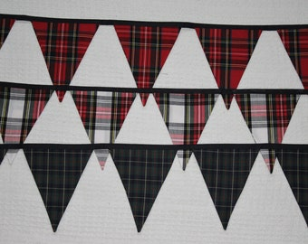 Stewart Tartan Bunting * 2 sided * 2 mtr * 10 flags * over 6 feet