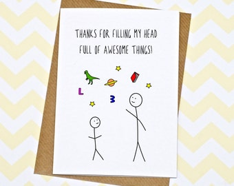 Thank you teacher gift etsy teacher card thank you m4hsunfo