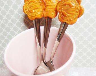 Spoon cookie Breton, Brittany, Gwenn, Breizh ha. polymer clays: Fimo, sculpey, cernit)