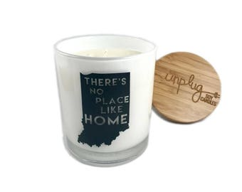 State candle- Customizable- There's No Place Like Home- Candle