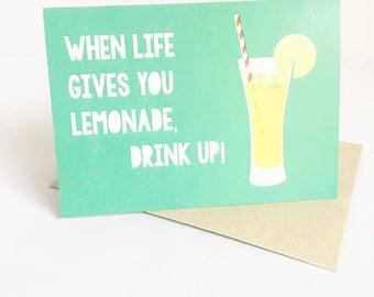 Birthday Card | Happy Birthday Card | Card for her | Card for friend | Card for Child | Card for him | Greeting Card | Lemonade Card