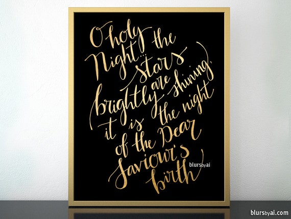 O holy night lyrics Christmas carol lyrics printable