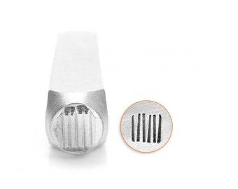 Impress Art 6mm Vertical Lines Metal Design Stamp - Metal Stamp - Metal Stamping and Jewelry Tool - SGSC1526-G-6mm