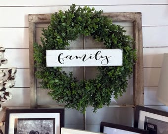 Family Sign   Family Name Sign   Wreath Sign   Wood Signs   Farmhouse   Gallery Wall Sign