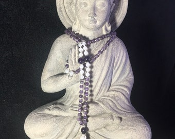 Traditional hand-knotted Protection & Purification Mala.