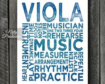 Viola Art - INSTANT DOWNLOAD Viola Print - Viola Player - Viola Poster - Viola Gifts - Music Gifts - Viola Wall Art - Viola Decor