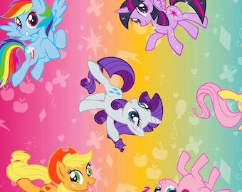 Child's Art Smock - My Little Pony _ Rainbow colors