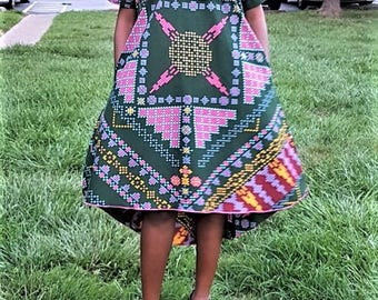 Ankara embellished dress