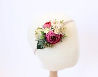 flower crown headband baby, baby flower crown, toddler flower crown, girls headband, flower crown baby, toddler headband, newborn headband,