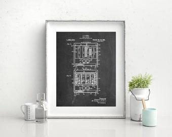 Toaster Patent Print, First Pop Up Toaster, Kitchen Wall Art, Restaurant Decor, Vintage Kitchen Appliances, PP0207