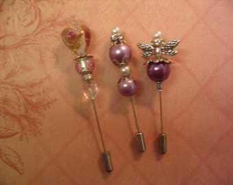 Three Stick Pins Jewelry Embellishment