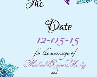 Poinsettia Wedding Invitation Set