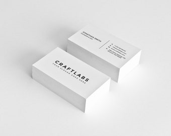 Simple business card etsy simple business card design template photoshop templates modern clean minimalist instant download v1 colourmoves