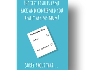 You Really Are My Mum Funny Confusing Awkward Rude Mothers Day Card