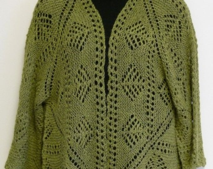 pdf Pattern for the Origami Shrug by Elizabeth Lovick in Artesano 4 ply alpaca - instant download