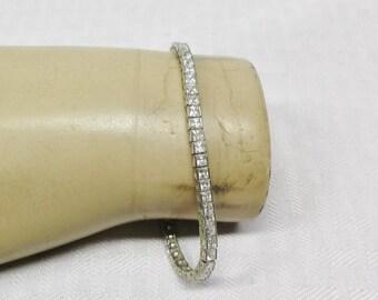 Vintage Mid Century Rhinestone Bracelet