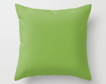 Greenery Throw Pillow with pillow insert, Indoor, Outdoor, Solid Color, Pantone, Gift, Basic, Modern, Accent, Fashion, Home decor, Elegant