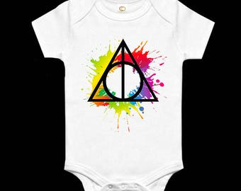 Harry Potter Deathly Hallows Baby Grow