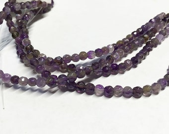 Amethyst Faceted Gemstone Rounds 4mm 8 inch strand Approx 40 pcs per strand