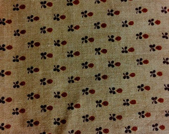 Brown Floral Cranston Print Works Fabric 1 Yard Quilting Crafts Sewing