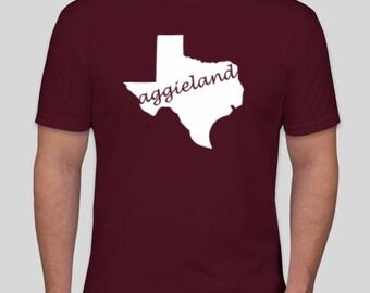 Aggieland Texas Shaped t-shirt