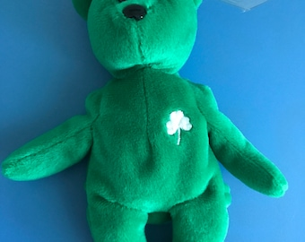Rare Erin Beanie Baby with tag errors! Collectors item!