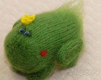 Frog knitted toys Amigurumi Frog Plush Frog crocheted Frog knit Frog amigurumi toy knit toy stuffed toy green knitted Frog knit toys RTS