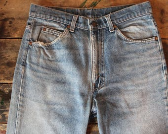 Vintage 70's Levis 515 jeans | Orange Tag | Hi Fade | 31x34 | Perfectly Worn In