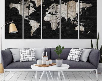 World map canvas etsy world map canvas print world map wall art wall art world map world map push pin canvas print push pin world map art canvas gumiabroncs Choice Image