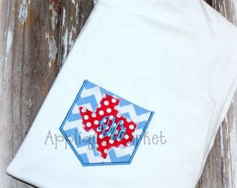 Machine Embroidery Design Applique Appli-Pocket 1 Texas INSTANT DOWNLOAD