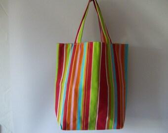 Fabric bag of stripes