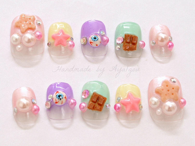 Harajuku nail, kawaii nail, deco nail, 3D nail, Japanese nail ...